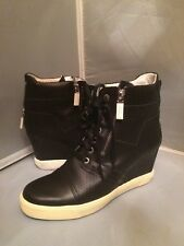 Authentic Baldinini Black Leather Italian Ankle Platform Boots  41EU 11US $973.