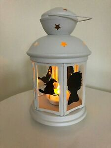 Harry Potter Cream Star Glass Candle Lantern Lamp Battery Tea Light Gift Home