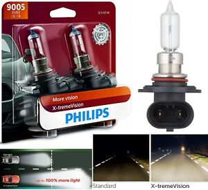 Philips X-Treme Vision 9005 HB3 65W Two Bulb Head Light High Beam Upgrade Stock
