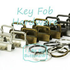 Key Fob Hardware - PICK 1 or 1.25 inch - CHOOSE FINISH/CHOOSE QUANTITY - Chains