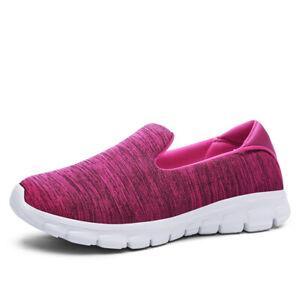 Women Loafers Sneakers Stretch Sole Slip-On Walking Breathable Lazy Shoe Jogging