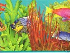 Fish on Top of Coral Wallpaper Border KID6092