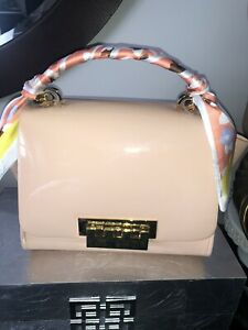 ZAC Zac Posen Eartha Winged Leather Shoulder Bag New MSRP $475 Pink Patent