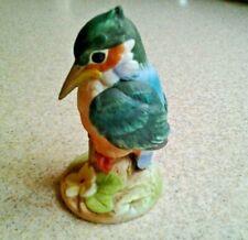 Andrea by Sadek Kingfisher Bird Figurine Bisque Porcelain Made in Japan #6350