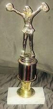 Vintage Cheerleader Trophy Award Marble Base