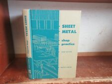 SHEET METAL SHOP PRACTICE Book TOOLS MACHINERY CUTTING BENDING SOLDERING PROJECT