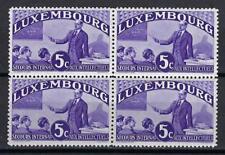 Luxembourg 1935 Sc# B65a Teacher block 4 MNH