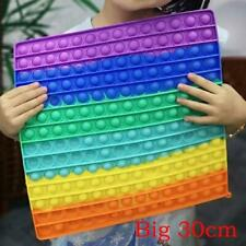 30CM Groß Poppit Fidget Toy Push Popet Bubble Sensory ADHS Stressabbau Spielzeug