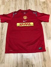 Nike Red Manchester United DHL Youth Boys Jersey XLarge NWOT