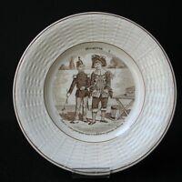 DIGOIN - ASSIETTE Ancienne Devinettes Soldat Pompier Militaire