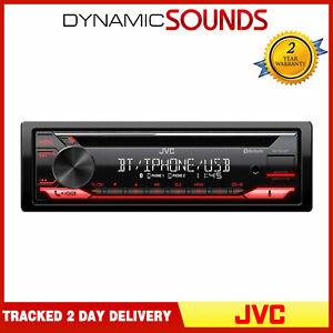 JVC KD-T812BT CD MP3 USB Stereo Bluetooth Spotify iPhone Ready Tuner Alexa