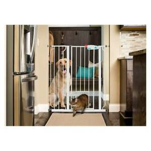 Carlson Extra Tall Walk Through Pet Gate with Small Pet Door