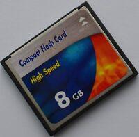 CF 8GB Compacft Flash 8 GB Compact Flash Speicherkarte NEU