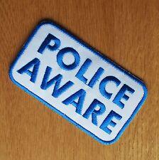 Paño de MOTOCICLISTA PATCH BADGE cueros Cintura Abrigo Denim Kutte consciente de la policía