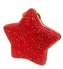 Judith Leiber Pillbox Gold tone Red Hollywood Star Pill Box Vintage Antique