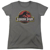 Jurassic Park Movie STONE LOGO Licensed Women's T-Shirt All Sizes