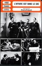 FICHE CINEMA : L'AFFAIRE EST DANS LE SAC - Carette,Prévert 1932 It's in the Bag