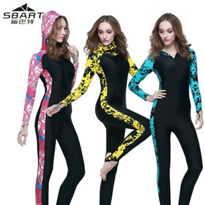 SBART Lady Womens Full Body Wetsuit Surf Swim Diving Steamer Wet Suit Thin 0.5mm