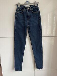 """Topshop Moto MOM Dark Blue Denim Jeans - Size W24"""" x L34"""""""