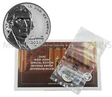 2020 FIRST W MINT REVERSE PROOF NICKEL SEALED IN ORIGINAL GOVERNMENT PACKAGING