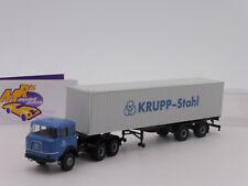 "Brekina 84130 # Krupp SF380 Container SZ blau-grau "" Krupp-Stahl "" 1:87 NEUHEIT"