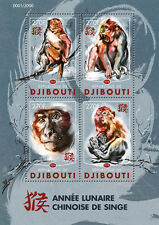 Djibouti 2016 MNH Year of Monkey 4v M/S Chinese Lunar New Year Stamps