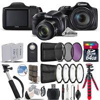 Canon PowerShot SX540 HS Camera + Spider Tripod + Monopad + EXT BAT - 64GB Kit