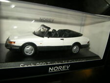 1:43 Norev Saab 900 Turbo 16 Cabrio 1992 White/Weiss Nr. 810043 in OVP