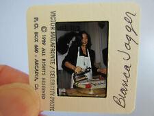 More details for original press photo slide negative - rolling stones - bianca jagger - 1989 - a