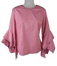 Women's Roksanda Pink Ruffle Sleeve Top Shirt Size 12