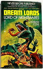 Dream Lords: Lord of Nightmares, by Adrian Cole; Zebra pb, 1st printing Nov 1975