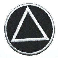 EMBROIDERED AA ALCOHOLICS ANONYMOUS IRON/SEW ON PATCH JEANS JACKET RACING BADGE