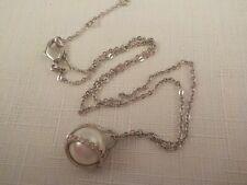 AUTHENTIC Swarovski Crystal NUDE Pearl Pendant Necklace Swan Hallmarked