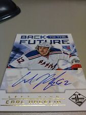 Hagelin/Richards 2012-13 Limited Back to the Future Dual Auto /25 Rangers