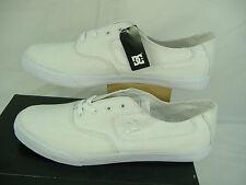 "New Mens 14 DC "" Flash TX "" White Textile Skate Boat Shoes $45"
