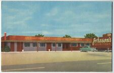 1939 DUNN NC Johnson's DRIVE-IN Restaurant 1950 Chevrolet ? postcard