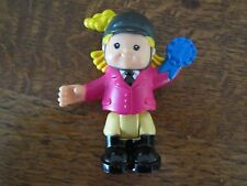 Fisher Price Little People Bendable Poseable Girl Sarah Lynn Riding Horse Toy