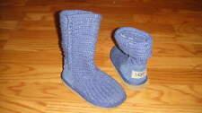 UGGS TODDLER GIRLS CROCHETED BOOTS BLUE SZ 7