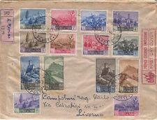 Paesaggi, i 14 valori emessi il 27-1-1949 su raccomanda