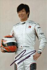 Kamui Kobayashi Hand Signed Sauber F1 Photo 12x8 3.
