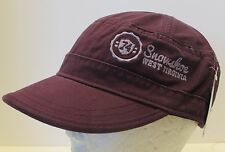 Snowshoe West Virginia Hat Cap Cadet Military Flat top Style USA Embroidery New