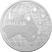 2020  Beneath the Southern Skies  $1 1oz Silver Brilliant Uncirculated Coin