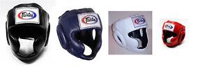 NEW Fairtex Full Face Headgear - HG3 Black Blue White Red - Muay Thai Kickboxing