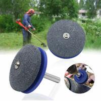 New Rotary Lawn Mower Lawnmower Blade Garden Tool Sharpener For Power Drill 50mm