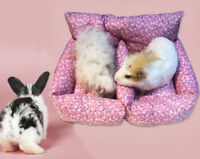 Double Sofa Bed for Rat Hamster Rabbit Guinea Pig Ferret Hammock Toy House Cage