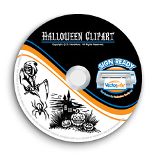 HALLOWEEN CLIPART-VECTOR CLIP ART-VINYL CUTTER PLOTTER IMAGES&TSHIRT GRAPHICS CD