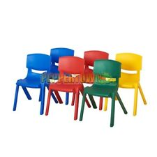 Plastic Stackable Preschool Chair Kids Kindy Daycare Home One piece Sturdy Solid