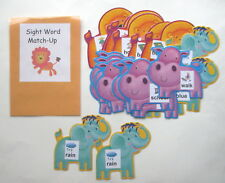 Teacher Made Literacy Center Learning Resource Game Kit Sight Word Match
