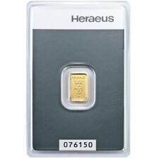 Heraeus - 1 Gramm Goldbarren - 999,9 Gold - in Blisterkarte - Neuware
