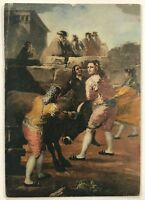 The Amateur Bullfight Francisco De Goya Repro Arthur J. Dixon Vintage Postcard